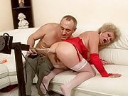 Grandma Effie cums and squirts juices from her pussy