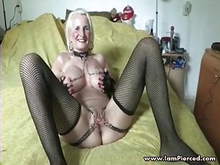 Amateur Bdsm video: Iam Pierced granny pith pussy piercing and chain Super kinky