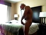 str8 married man in action:Daddy playing alone in hotel room
