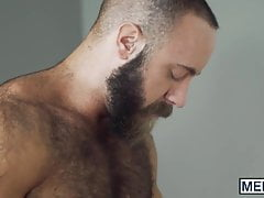 Hairy muscular hunk cheats his wife with a handsome gay guy | Porn-Update.com