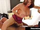 Hot Horny Cougar Deauxma Fucks Big Black Cock Fan!