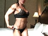 Sexy Female Bodybuilder With Amazing Body Poses in Lingerie