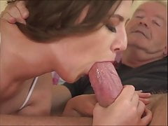 Young Gal Blowage Giant Grandfather Cock