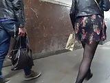 pantyhose upskirt in metro