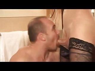 Stunning transie fucks man