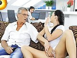 DADDY4K. Guy Works On Laptop While Girlfriend Copulates With