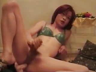 Ladyboy Shemale Small Tits Shemale Sex Toy Shemale vid: Sexually Stroking Transvestite