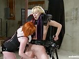 Lesbian babe enjoys BDSM, spanking and pain from mistress