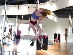 NN Teen on a STRIPPERS POLE