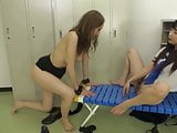 Asian Schoolgirl Has Fun With Slave Teacher Lesbian
