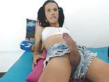 Cute tgirl big hard erection