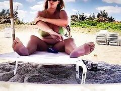 necken am strand