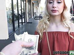 Sweet picked up teen Anastasia Knight fucking in public