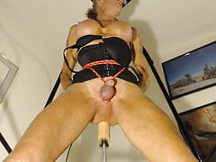 Bobbie Enjoys Pummeling Her Machine