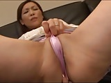 Japanese mommy widow masturbates