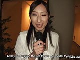 Japanese news reporter pussy toyed and mouth fucked by perve
