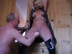 Submissiver german mature tied and fisted