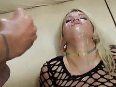 Massive Bukkake Gesichtsbehandlung Layla -Rubin-