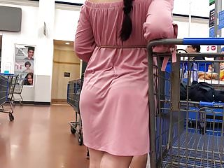 Voyeur Pantyhose Latina video: Latina Teen See Through Dress VPL