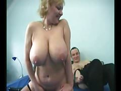 Babcia Big Saggy Tits Stockings Fucked