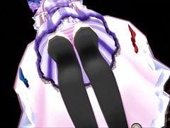 Touhou MMD - Marisa devorada por Giantess Patchouli (Vore)