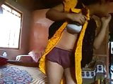 Indian Aunty show her boob and pants