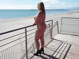 Public Nudity Beach Outdoor video: Enjoying the nudist-beach