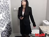Brunette MILF Alyssa Jade showing off her pussy and ass