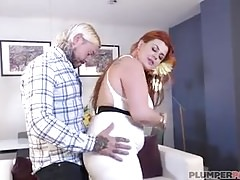 Sexy Big Booty British Bird Seduces Tattooed Stud