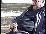 Old Man Masturbates in Public Park