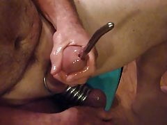 Sounding and cumming with with my 39fr and streched balls