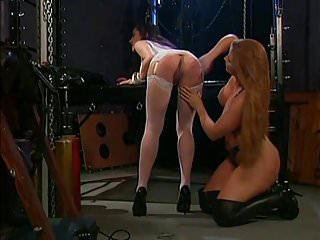 Girls playing with pussy and spanking