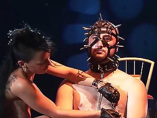Public Nudity Bdsm Milf video: brutal bdsm scandal show on public stage