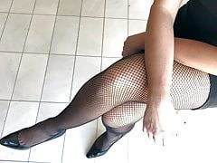Fishnet e talloni super sexy