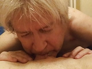 Brunette Pussy Mom video: Old Man Eats Pussy of Young Woman
