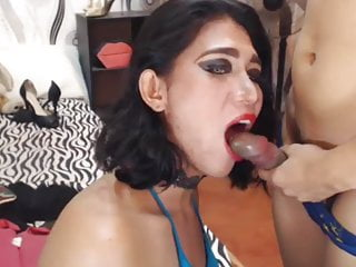 Shemale Fucks Shemale Shemale Hd Videos video: Duo Tranny Sucking On Cam