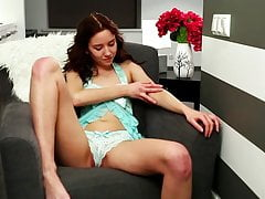 Zee - Latvian Teen bierze Lingerie And Fingers Her Pussy