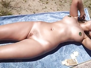 Wife sunbathing naked
