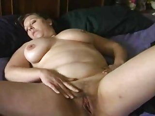 Bbw Mature Pussy video: Wonderful curvy woman helps herself to a good time