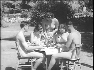 Vintage Tits Outdoor video: German Vintage Nudist Naturist From 1940's