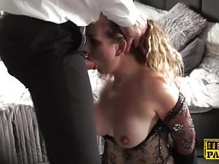 .Submissive british MILF assfucked and spanked.