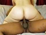 Wife rides BBC and he gives her a creampie