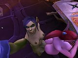 Blood elf grinding on futa orc