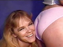 Two amateur MILF licking and fingering ass