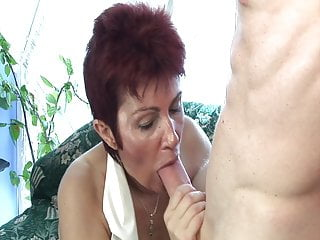 Stockings Granny Sex Toy video: Old slut needs hard cock in her ass