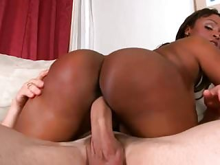 busty ebony milf gets fucked and jizzed on her butt