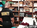 Tattooed perp paying for his crimes with his bare ass