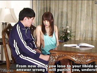 Japanese Tits Femdom video: Provocative Tutor's Chastity Belt Corporal Punishment Class