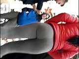 Teen in leggings