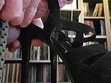 Cum on my wifes High Black Heels